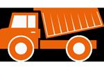 LKW für Sand- und Kiestransport